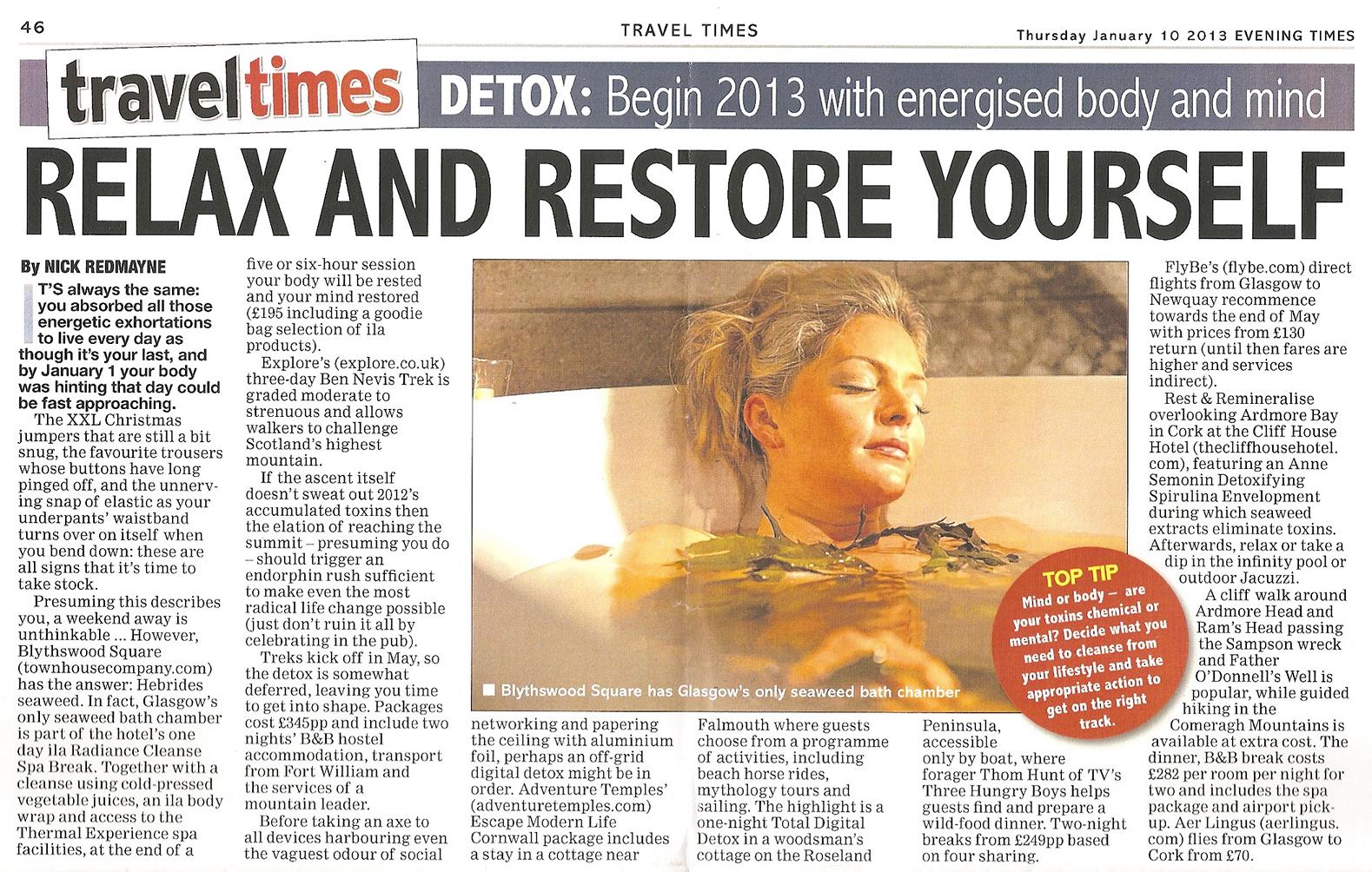 EveningTimes Feature Jan 2013