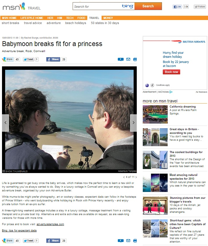 MSN Travel Feature 17 Jan 2013